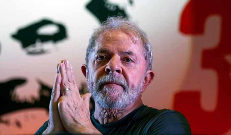 Lula acompanhou o julgamento no Sindicato dos Metalúrgicos do ABC, em São Bernardo do Campo. - Foto: Miguel Schincariol   AFP