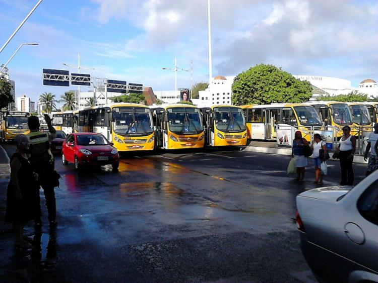 Categoria reivindica a integração dos veículos da Stec com os demais sistemas de transporte de Salvador - Foto: Nicolas Melo   Ag. A TARDE