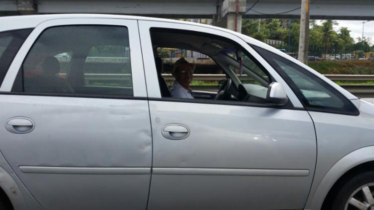 Motorista João Anastácio tentava chegar à rodoviária - Foto: Thaís Seixas   Ag. A TARDE