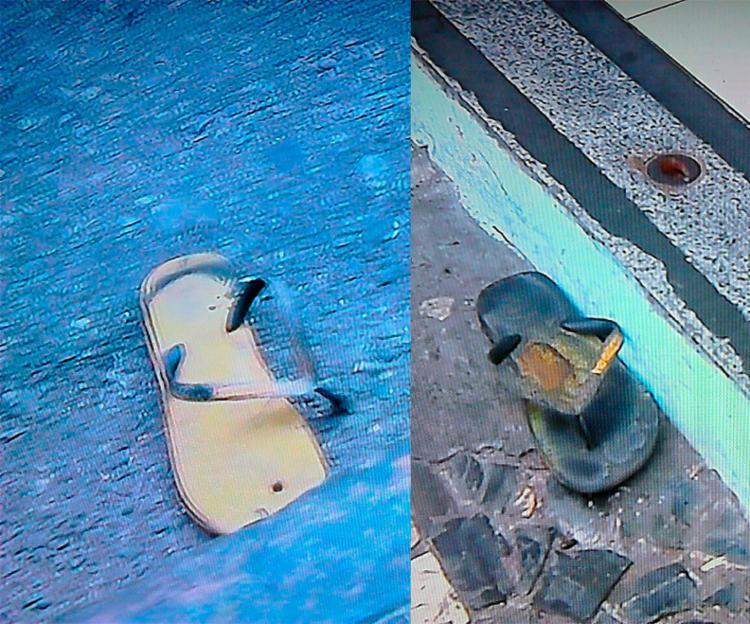 Suspeitos deixaram sandálias no local do crime