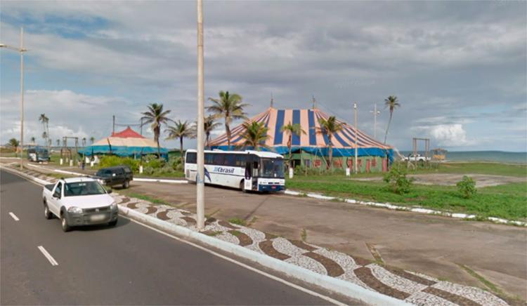 Obra acontece nas imediações do circo Picolino, no sentido Itapuã - Foto: Reprodução | Google Maps
