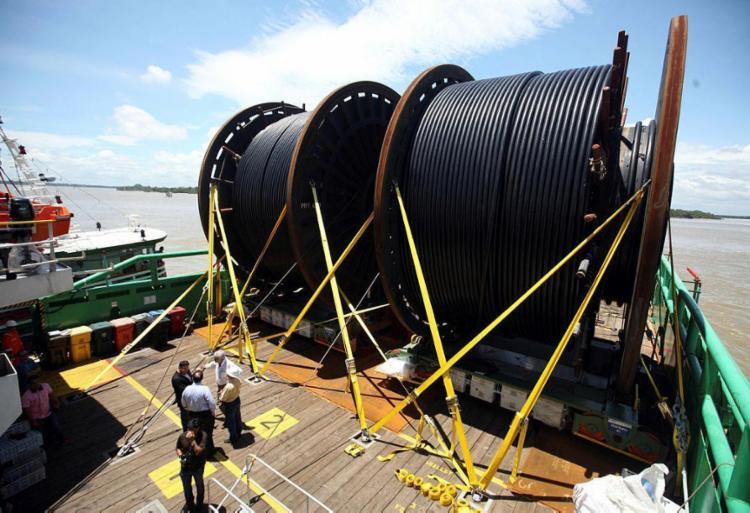 Cabos integram rede de transmissão subaquática - Foto: Sindey Oliveira | Ag. Pará