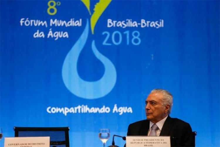 Temer disse que seu governo se esforça para terminar a transposição do Rio São Francisco - Foto: Beto Barata | PR