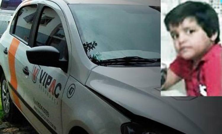 Arthur foi atropelado por um carro de uma empresa de segurança - Foto: Reprodução | Blog do Marcelo