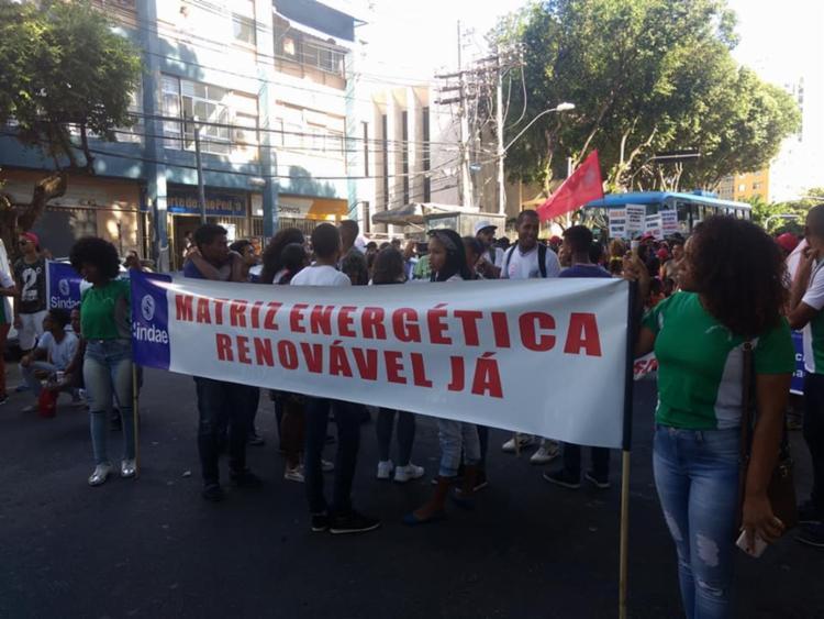 Evento terminou por volta das 16h3, na praça Castro Alves - Foto: Divulgação | Sindicato dos Trabalhadores em Água, Esgoto e Meio Ambiente no Estado da Bahia