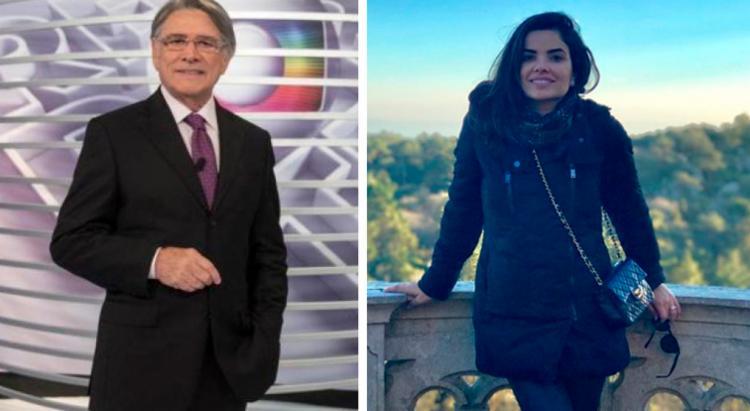 Sérgio Chapelin e Vanessa Giácomo participaram da gravação do Troféu Imprensa 2018 - Foto: Reprodução | Instagram