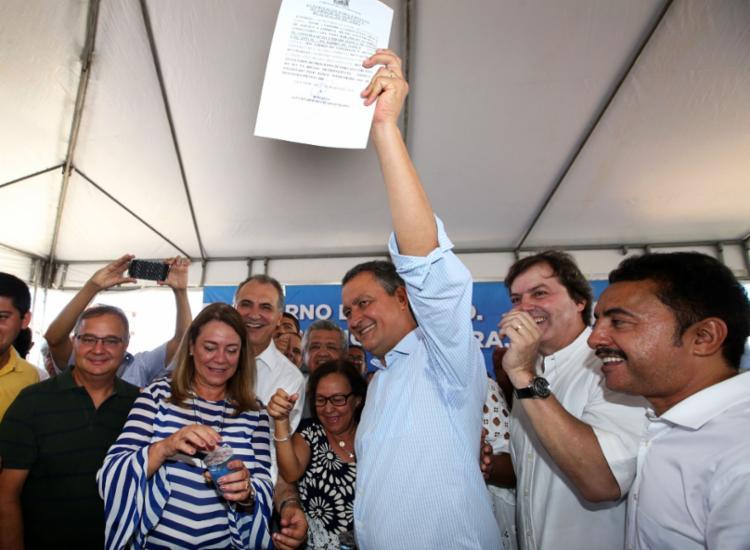 Ordem de serviço para início das obras foi assinada por Rui Costa - Foto: Manu Dias | Divulgação | GovBA