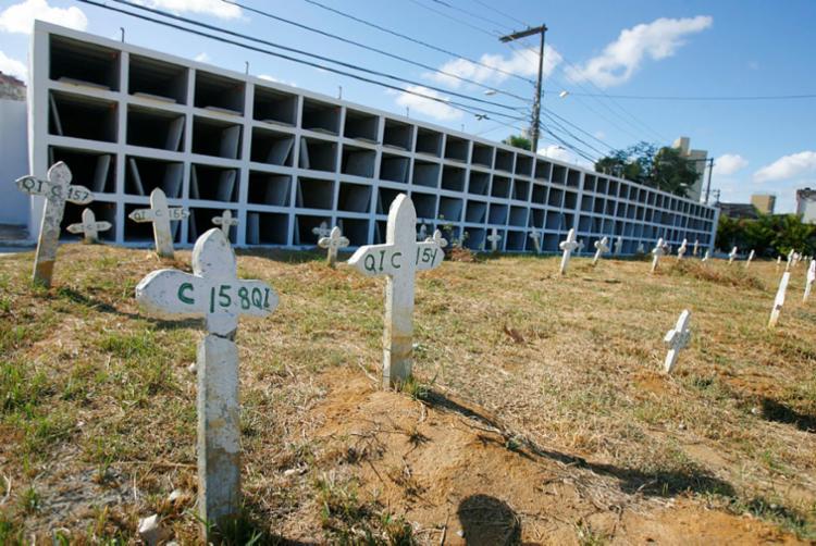 Cemitério localizado em brotas ganhou mais 128 gavetas - Foto: Joá Souza | Ag. A TARDE