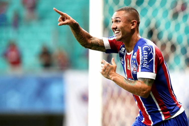 Vinicius já marcou 6 gols em 2018: 5 pelo Baiano e um pelo Nordestão - Foto: Felipe Oliveira l EC Bahia