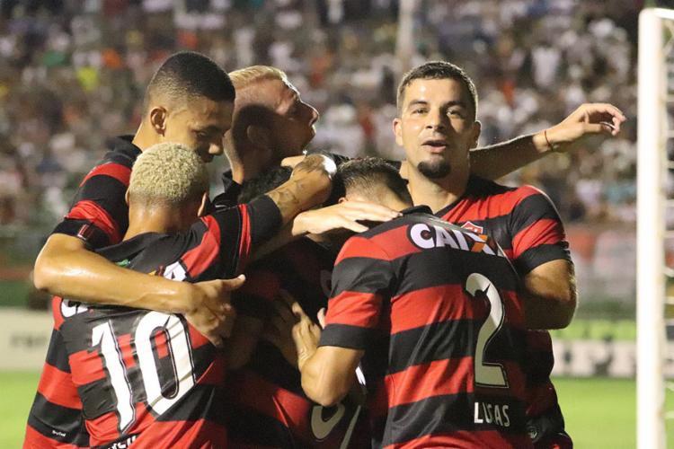Os gols que garantiram o triunfo foram marcados por Nickson e André Lima - Foto: Maurícia da Matta l Ag. A TARDE