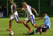 Bahia cai para o Blooming e sai em desvantagem na Copa Sul-Americana | Foto: Aizar Raldes l AFP