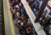 Falha técnica afeta operação da Linha 1 do metrô nesta terça-feira | Foto: Luís Alberto Borges | Via WhatsApp