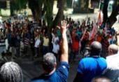 Em estado de greve, operários da construção realizam ato nesta sexta | Foto: Divulgação | Sintracom