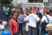Professores das universidades estaduais protestam na Piedade | Foto: Roy Rogeners | Ag. A TARDE