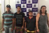Grupo é preso com R$ 10 mil em notas falsas na Micareta de Feira | Foto: Reprodução/Polícia Civil