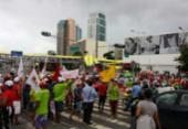 Região do Shopping da Bahia é interditada por manifestantes | Foto: Felipe Santana | Ag. A TARDE