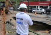 Vazamento no Dique deixa sete localidades do centro sem água | Foto: Luciano da Matta | Ag. A TARDE