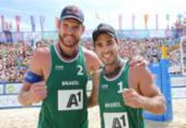Alison e Bruno Schmidt faturam bronze em etapa chinesa do vôlei de praia | Foto: Divulgação