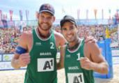 Alison e Bruno Schmidt faturam bronze no vôlei de praia | Divulgação