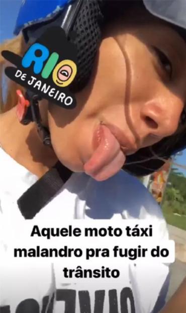 Anitta postou vídeo no Instagram se divertindo durante a corrida - Foto: Reprodução | Instagram