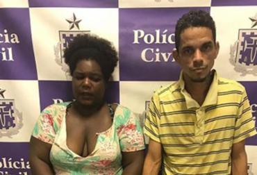 Mariana e Tiago Lima foram apresentados pela polícia - Foto: Reprodução