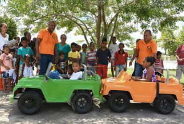Crianças de Cardeal da Silva participam de oficina lúdica de trânsito