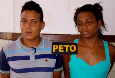 Casal é preso com cerca de 240 trouxas de maconha em Dias d'Ávila   Divulgação   Polícia Militar