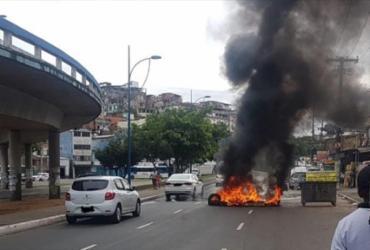 Manifestação congestiona trânsito na avenida Vasco da Gama | Divulgação | Transalvador