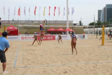 Brasil tem início 100% na chave feminina de etapa chinesa do vôlei de praia   Divulgação   FIVB
