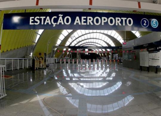 Estação do Aeroporto tem capacidade para transportar 17 mil pessoas por hora   Paula Fróes   Divulgação   GOVBA