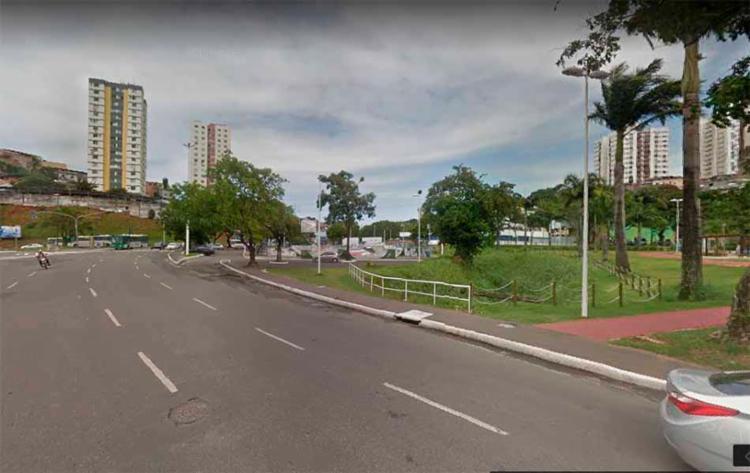 O acidente aconteceu nas imediações da praça João Mangabeira - Foto: Reprodução | Google Maps
