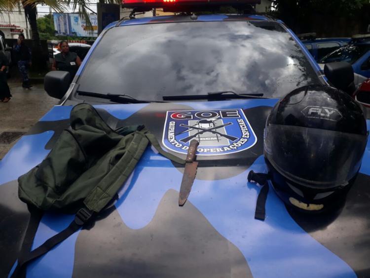 Adolescente portava uma faca durante assalto - Foto: Divulgação | Guarda Civil Municipal de Salvador
