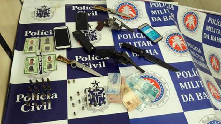 Material apreendido pela polícia no imóvel - Foto: Reprodução | SSP