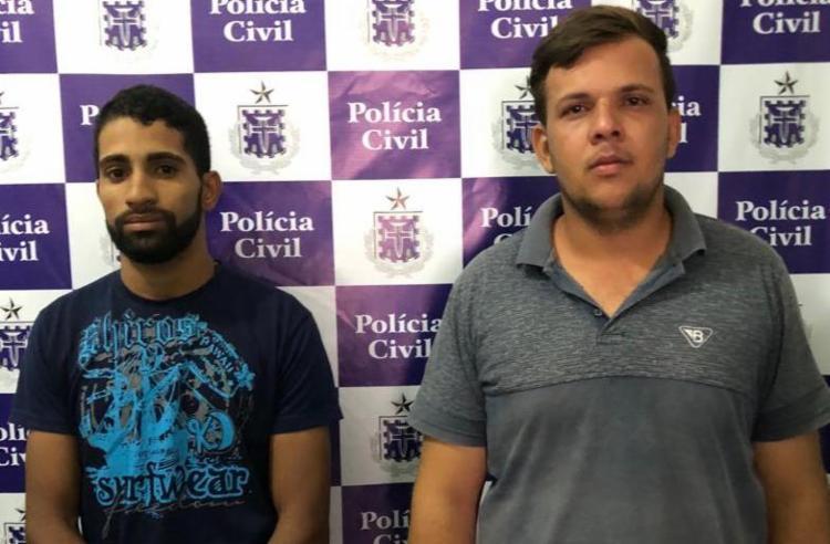 Vagner e Anderson serão encaminhados ao sistema prisional de Vitória da Conquista - Foto: Divulgação | Polícia Civil