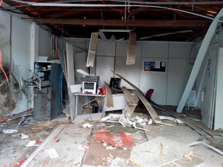 Agência ficou destruída - Foto: Fábio Cruz | Reprodução | Criativa On Line