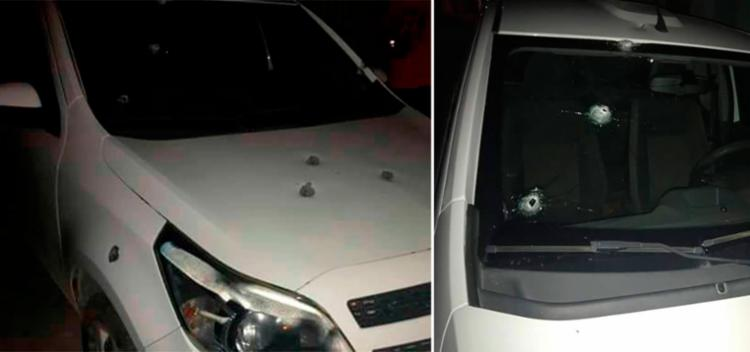 Dono do carro acordou com o som dos tiros - Foto: Reprodução   Augusto Urgente