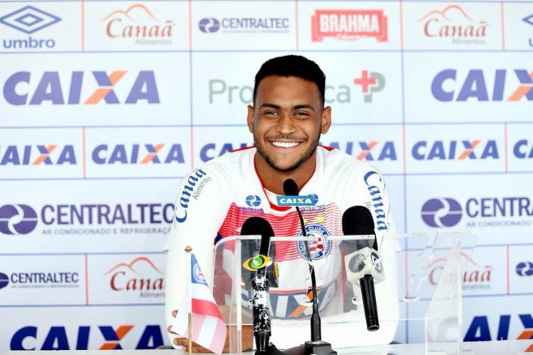 Jovem atacante já marcou quatro gols na atual temporada - Foto: Reprodução   Twitter EC Bahia