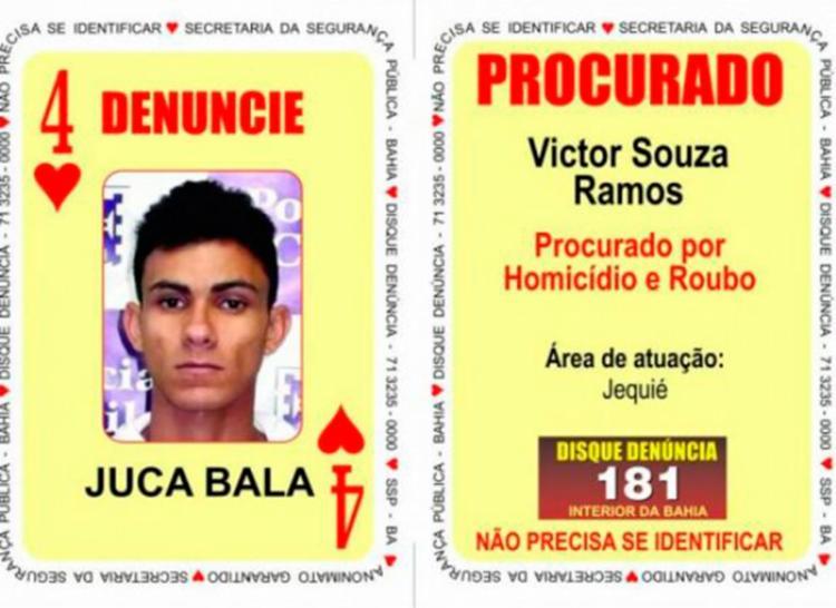 Suspeito era procurado por homicídios, roubos e tráfico de drogas - Foto: Divulgação | SSP-BA