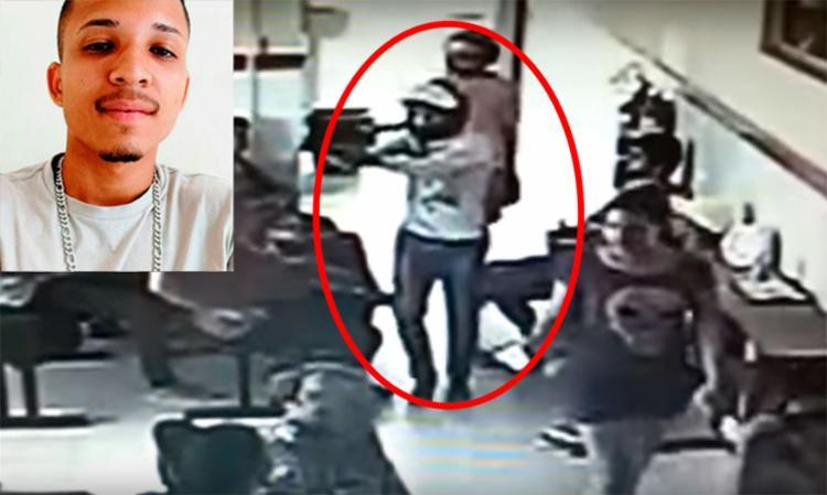 Polícia já identificou o comparsa de Jaziel Santana Santos nesta terça - Foto: Reprodução