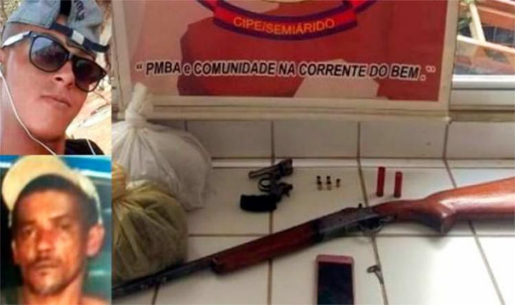 Armas, drogas e munições foram apreendidos com os homens - Foto: Reprodução   Blog do Marcelo