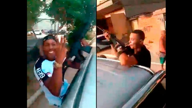 Criminosos armados com fuzis gravam vídeo durante comboio no Rio