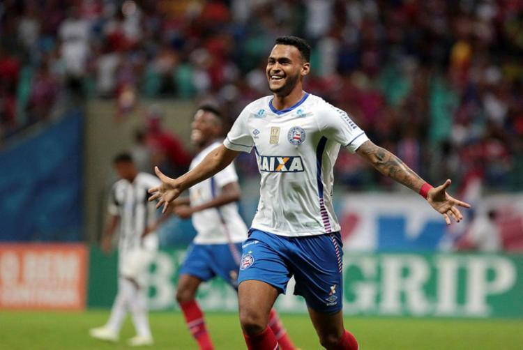 Brumado marcou contra o Santos na Arena Fonte Nova - Foto: Raul Spinassé | Ag. A TARDE