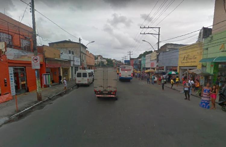 Acidente aconteceu na rua Padre Antônio de Sá, sentido Calçada - Foto: Reprodução | Google Street View