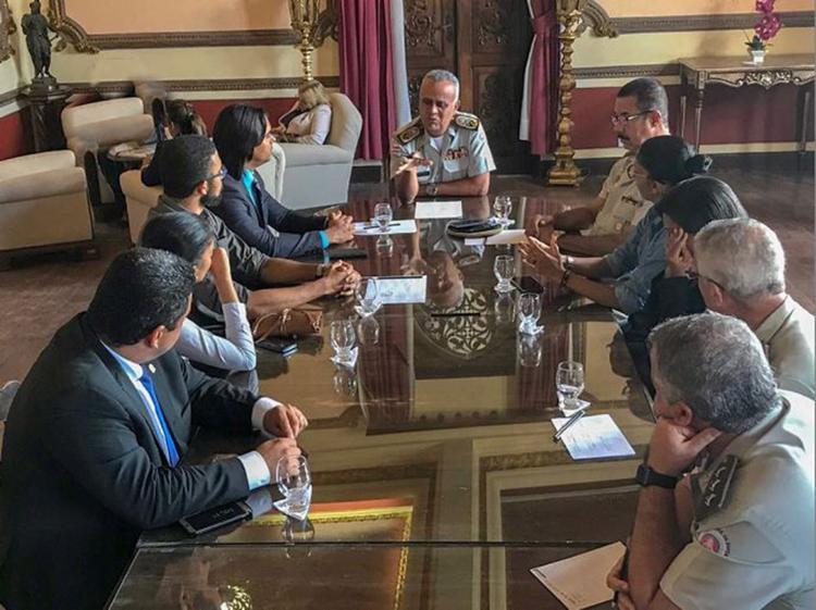 Familiares foram recebidos por comandante nos Aflitos - Foto: Divulgação l Câmara Municipal de Candeias