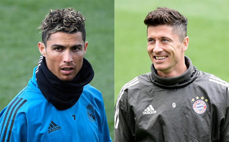 Cristiano Ronaldo e Lewandowski duelam nesta terça-feira, 1º, por vaga na final - Foto: Gabriel Bouys e Javier Soriano l AFP