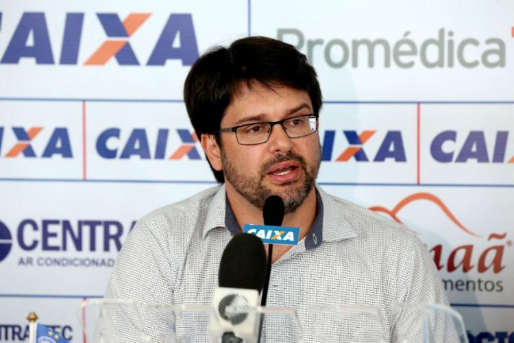Presidente do Tricolor durante em entrevista coletiva no Fazendão - Foto: Divulgação | EC Bahia