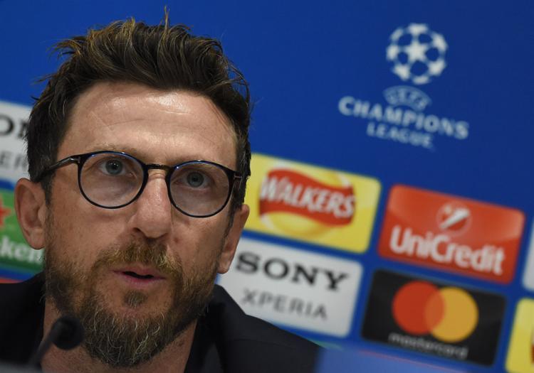 Di Francesco alertou que a meta do clube é o inédito título da Liga dos Campeões - Foto: Paul ELLIS / AFP