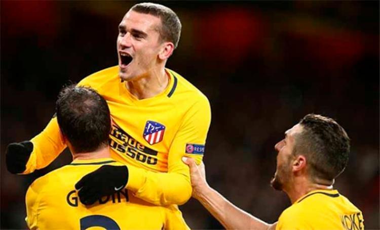 O atacante francês Antoine Griezmann comemorando o gol de empate do time espanhol - Foto: Reprodução | Instagram