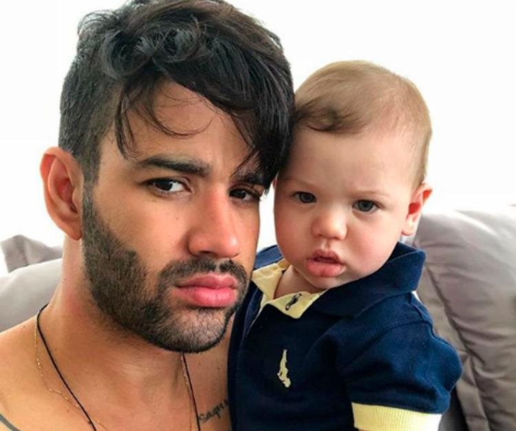 Nome rima com o do outro filho do casal, Gabriel, que tem nove meses de idade - Foto: Reprodução   Instagram