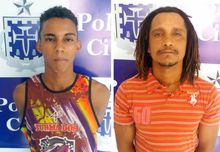 Dilsinho e Rasta estavam com mandados de prisão em aberto por causa do homicídio - Foto: Divulgação | Polícia Civil